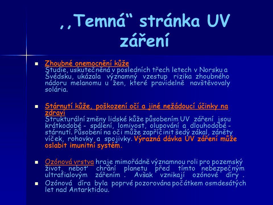 ,,Temná stránka UV záření