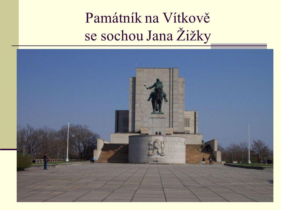 Památník na Vítkově se sochou Jana Žižky