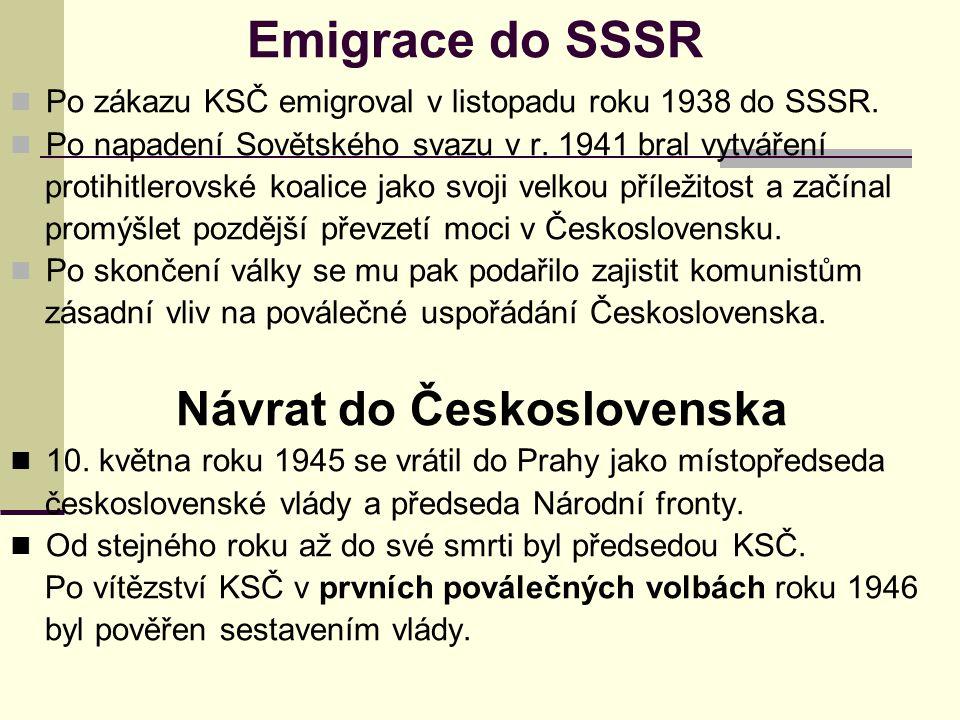 Návrat do Československa