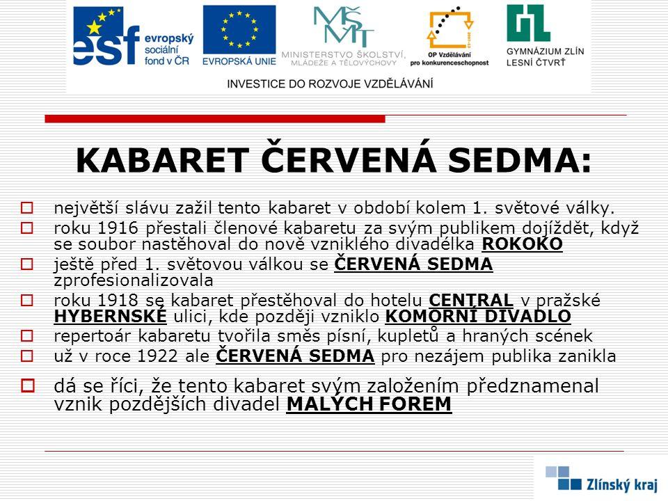 KABARET ČERVENÁ SEDMA: