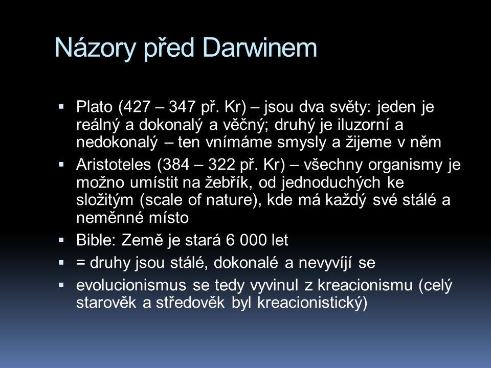 Názory před Darwinem