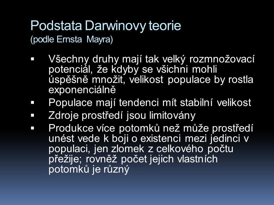 Podstata Darwinovy teorie (podle Ernsta Mayra)