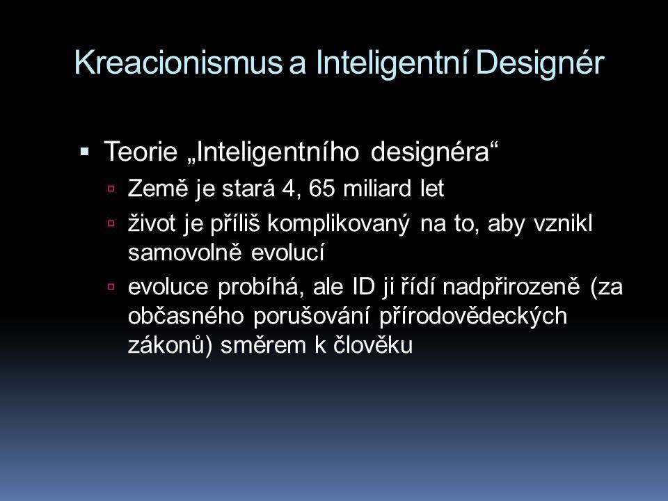Kreacionismus a Inteligentní Designér