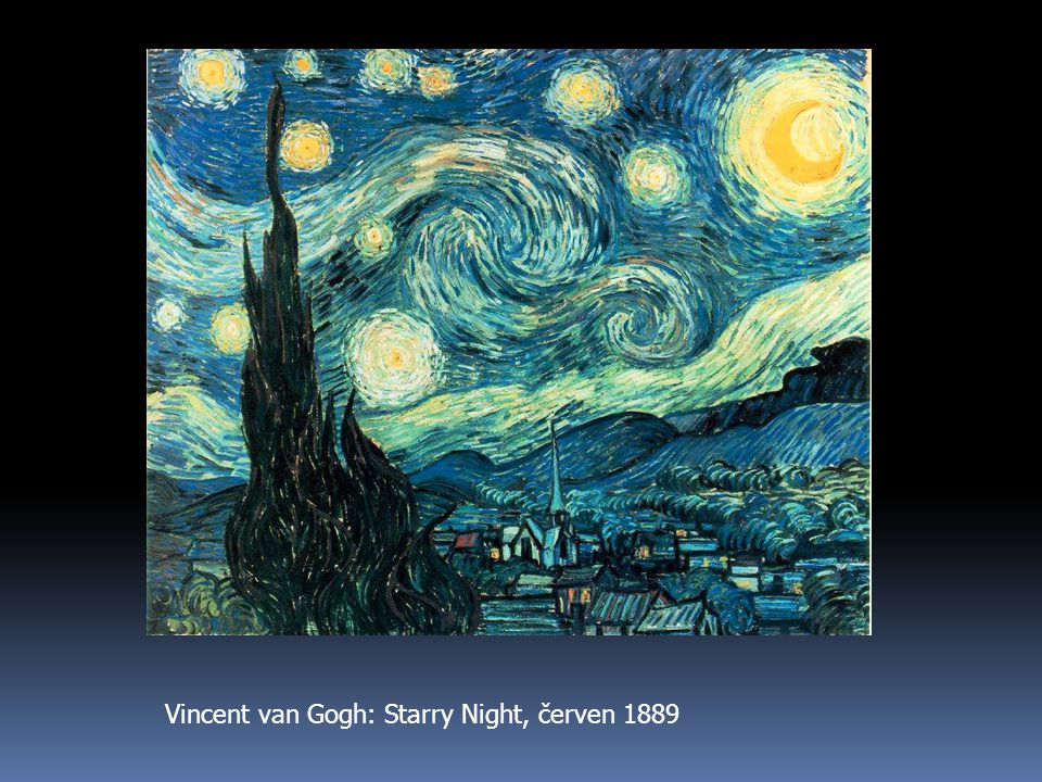 Vincent van Gogh: Starry Night, červen 1889
