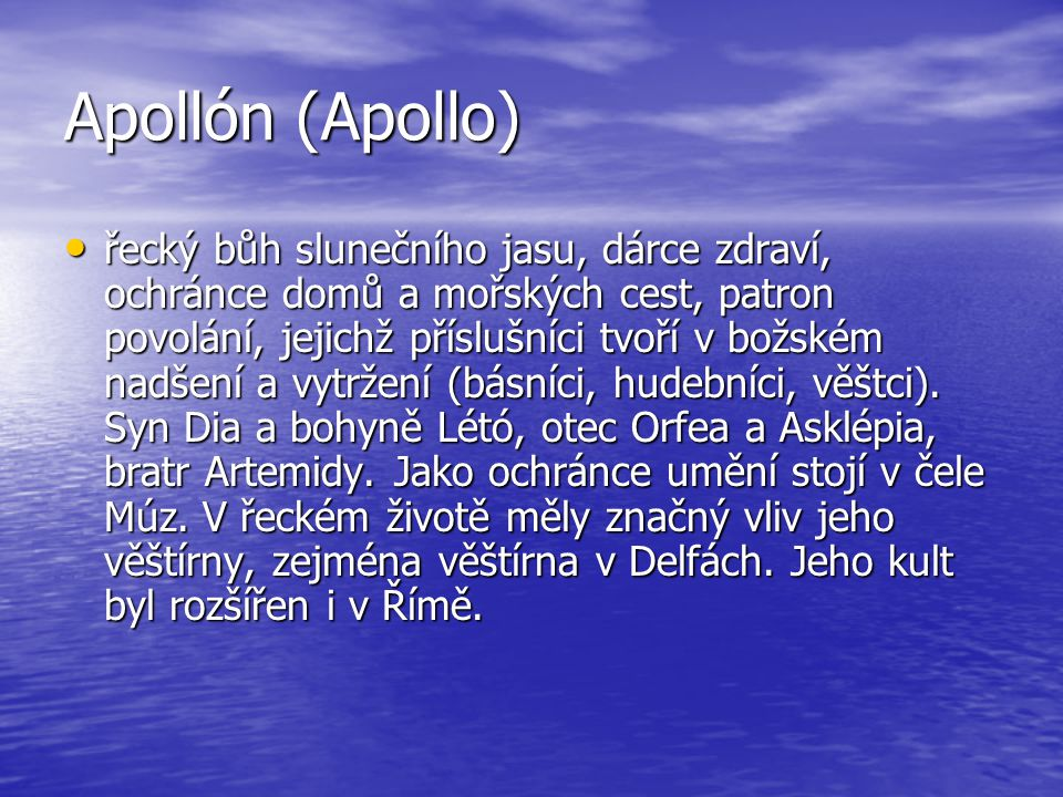 Apollón (Apollo)