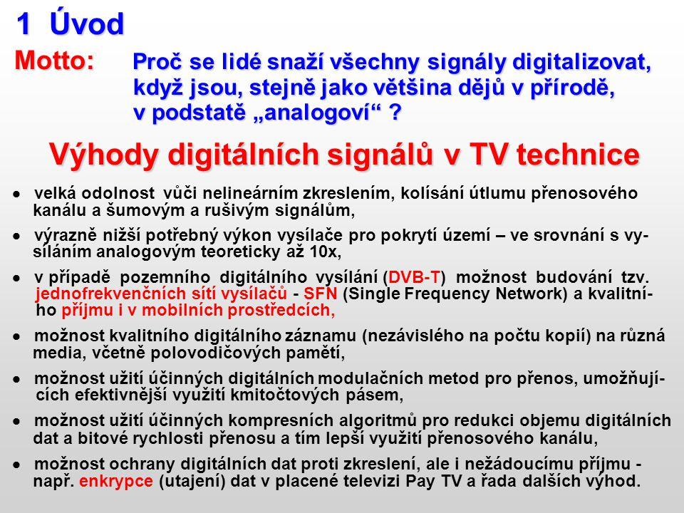 Výhody digitálních signálů v TV technice