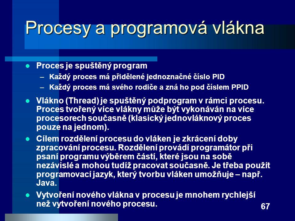 Procesy a programová vlákna