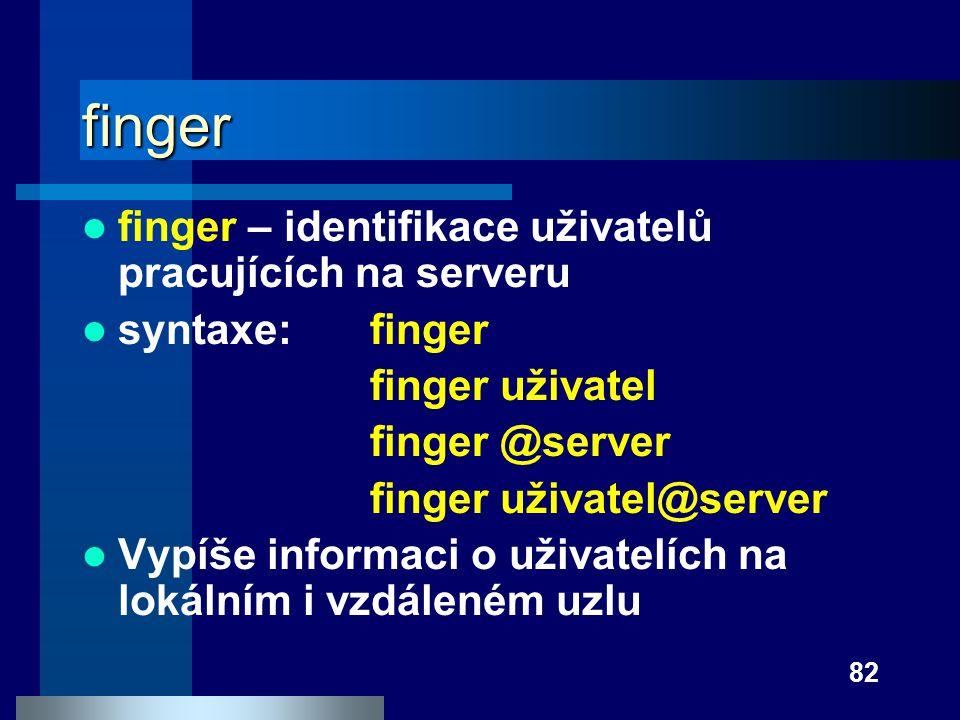 finger finger – identifikace uživatelů pracujících na serveru