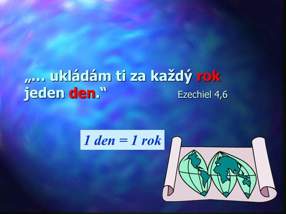 """""""… ukládám ti za každý rok jeden den. Ezechiel 4,6"""