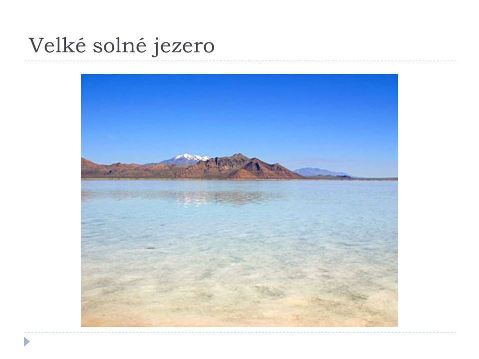Velké solné jezero