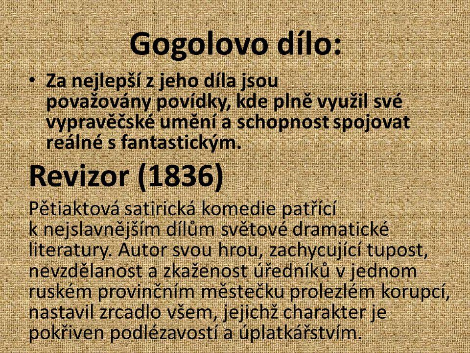 Gogolovo dílo: Revizor (1836)