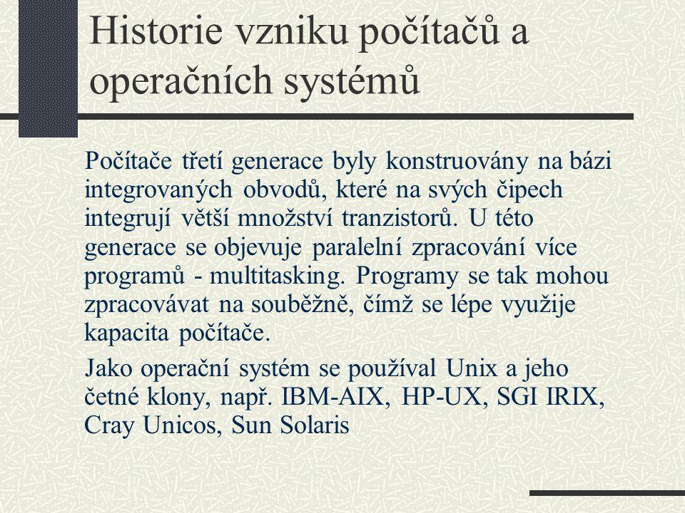 Historie vzniku počítačů a operačních systémů