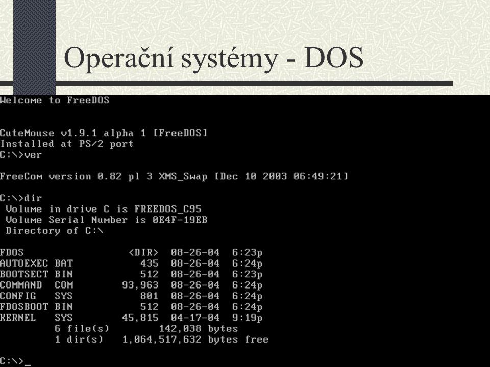 Operační systémy - DOS