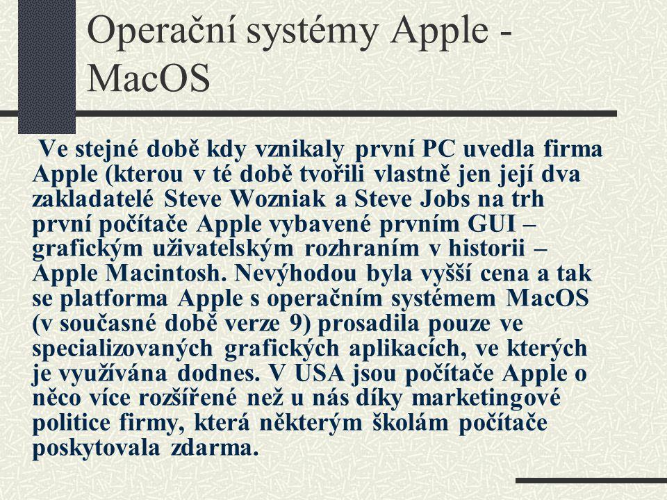 Operační systémy Apple - MacOS