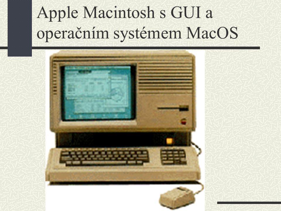 Apple Macintosh s GUI a operačním systémem MacOS