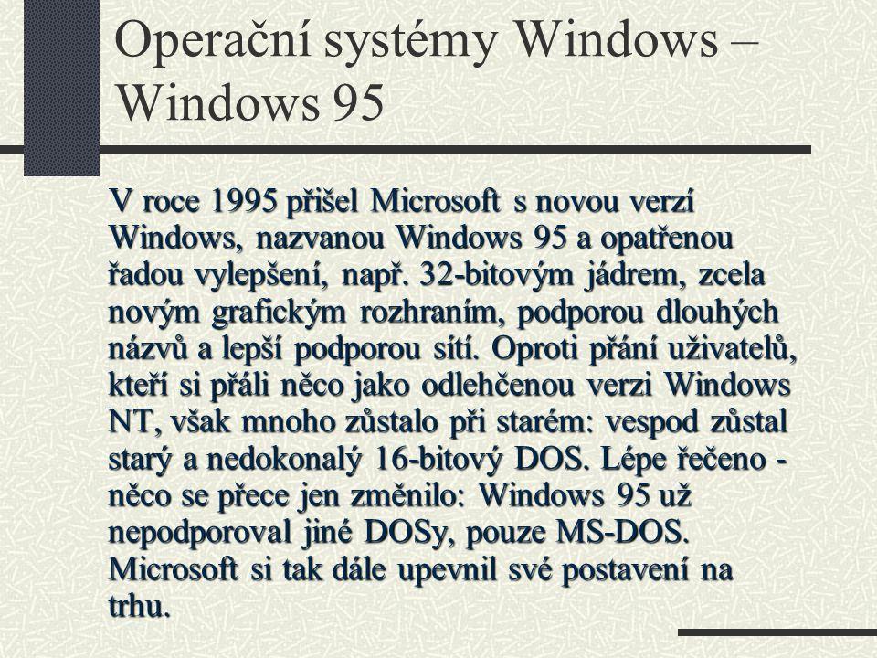 Operační systémy Windows – Windows 95