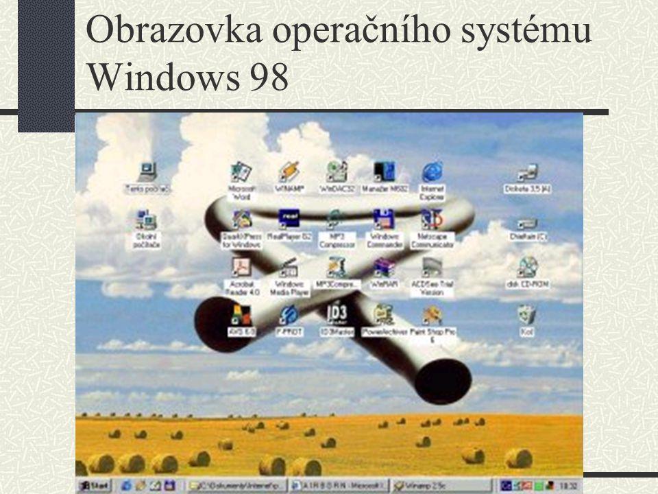 Obrazovka operačního systému Windows 98