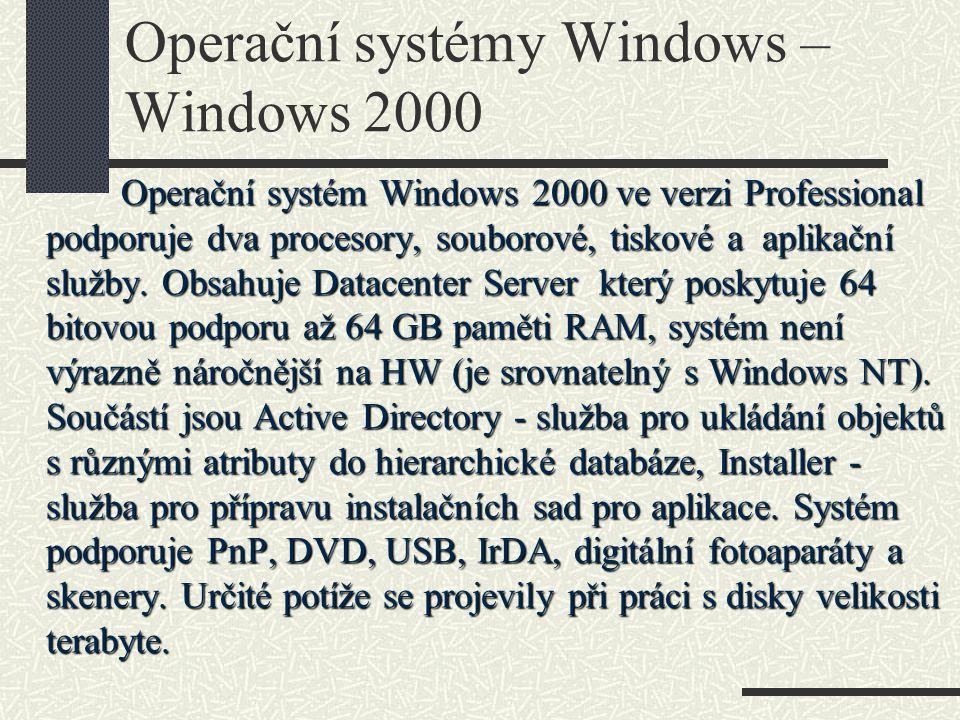 Operační systémy Windows – Windows 2000