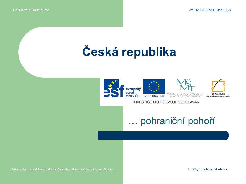 Česká republika … pohraniční pohoří