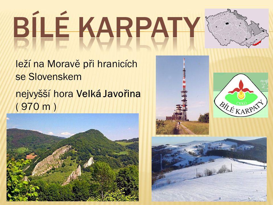 BÍLÉ KARPATY leží na Moravě při hranicích se Slovenskem