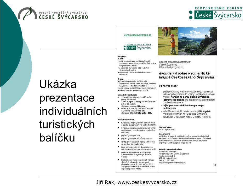 Ukázka prezentace individuálních turistických balíčku