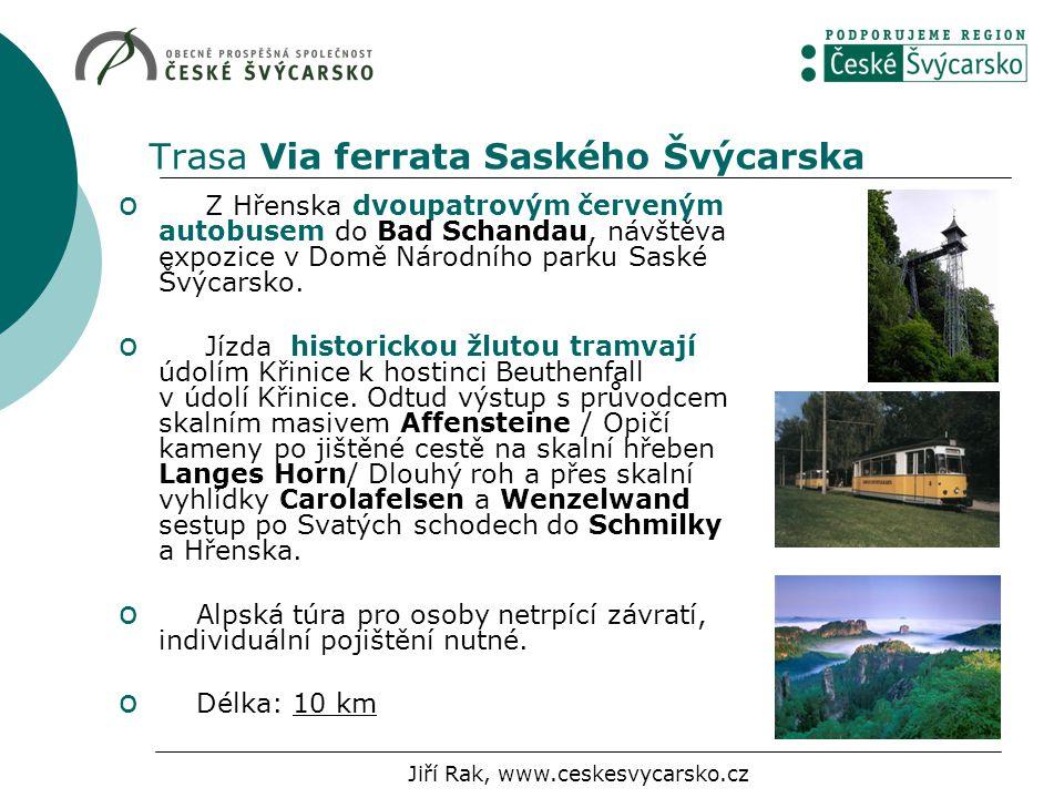 Trasa Via ferrata Saského Švýcarska