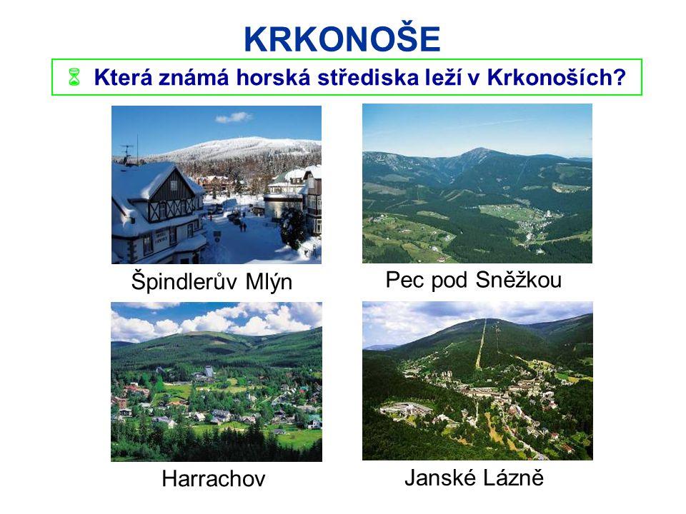  Která známá horská střediska leží v Krkonoších