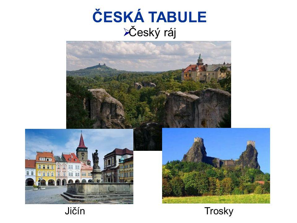 ČESKÁ TABULE Český ráj Jičín Trosky