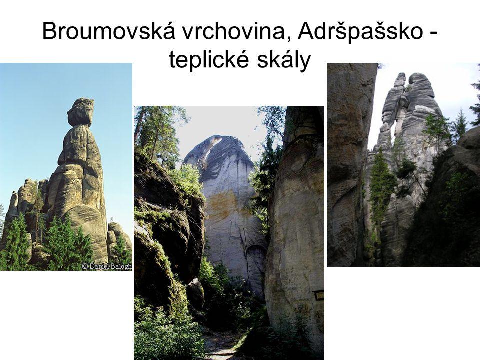 Broumovská vrchovina, Adršpašsko - teplické skály