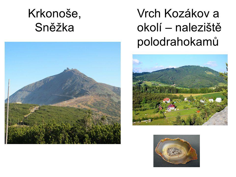Krkonoše, Sněžka Vrch Kozákov a okolí – naleziště polodrahokamů