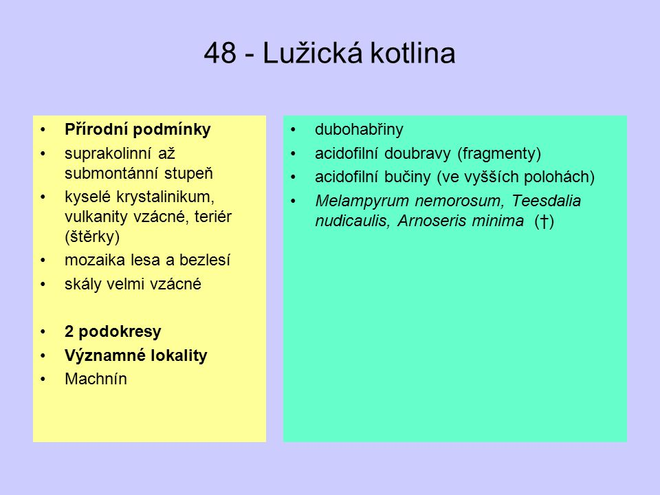 48 - Lužická kotlina Přírodní podmínky