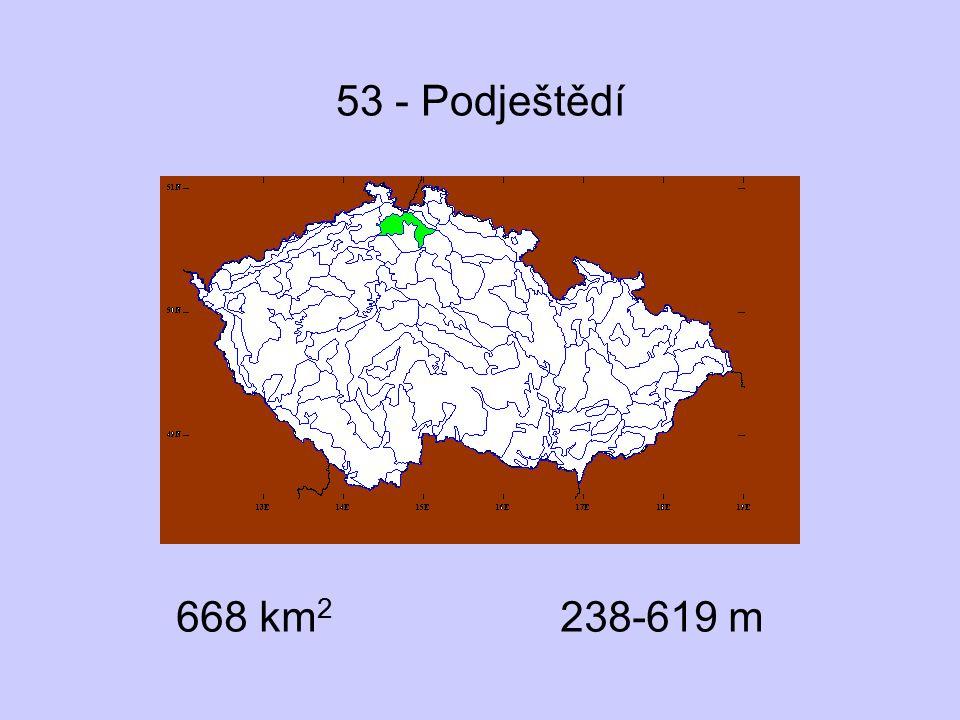 53 - Podještědí 668 km2 238-619 m