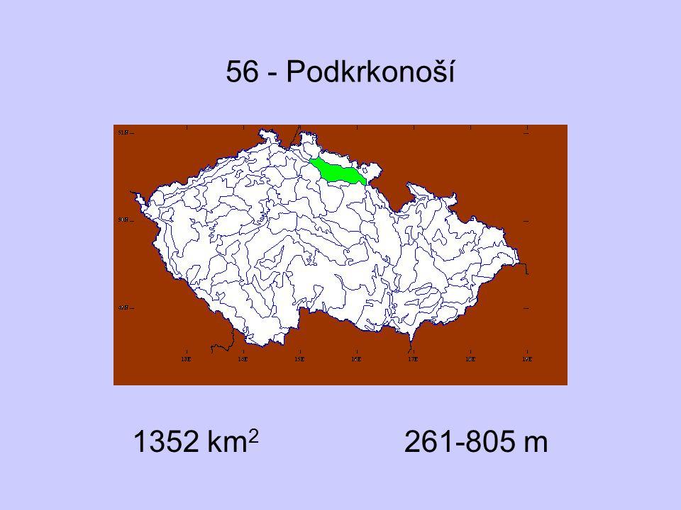 56 - Podkrkonoší 1352 km2 261-805 m
