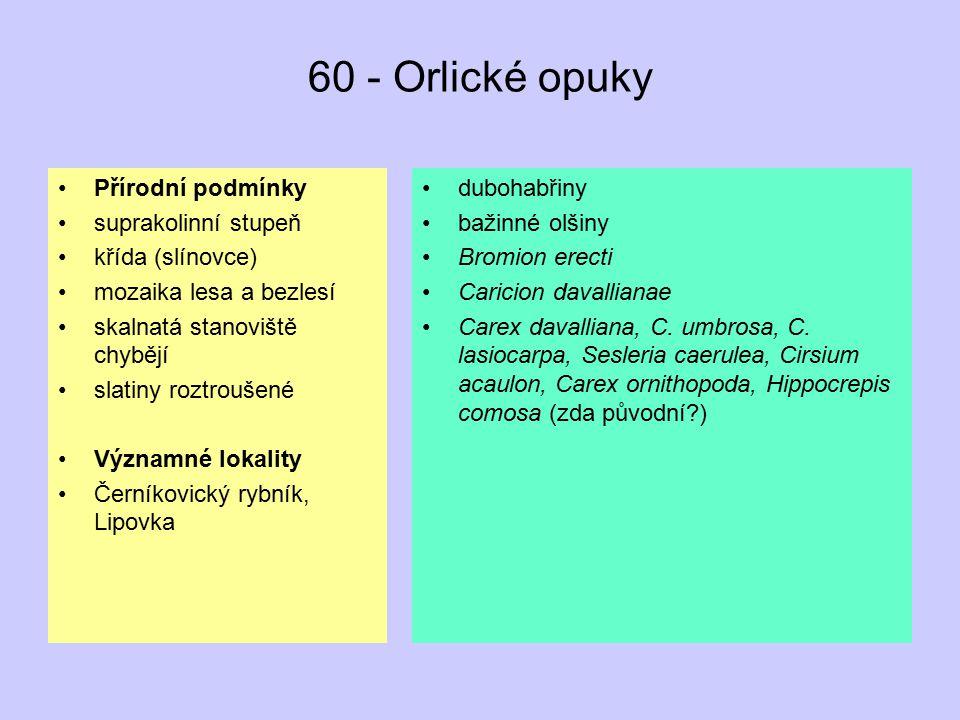 60 - Orlické opuky Přírodní podmínky suprakolinní stupeň