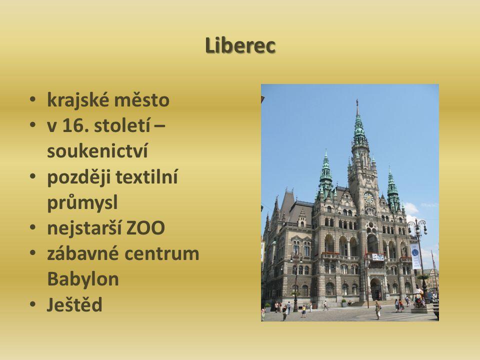 Liberec krajské město v 16. století – soukenictví