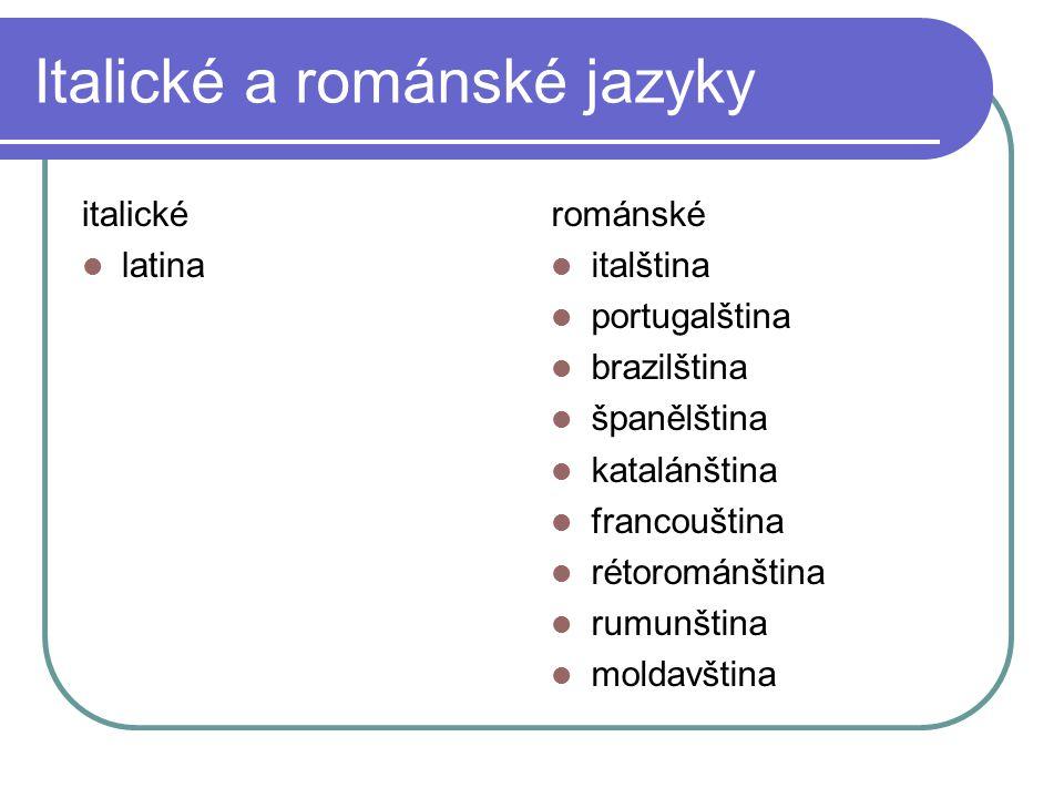 Italické a románské jazyky