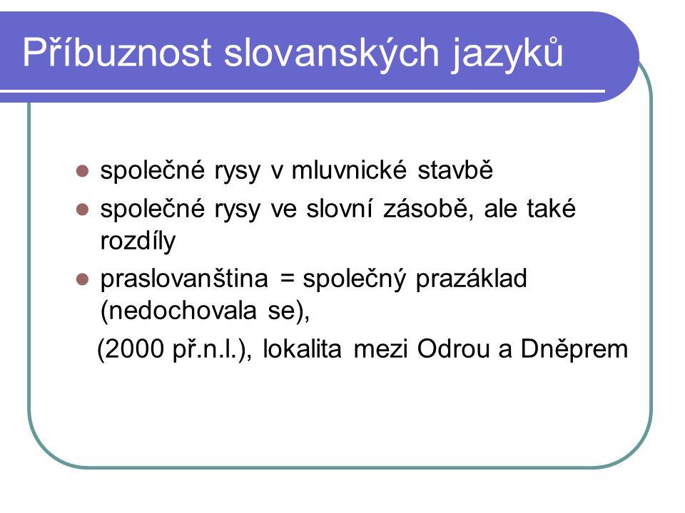 Příbuznost slovanských jazyků