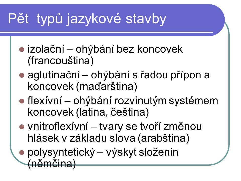 Pět typů jazykové stavby