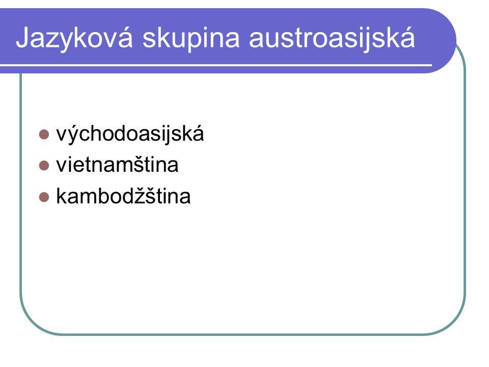 Jazyková skupina austroasijská