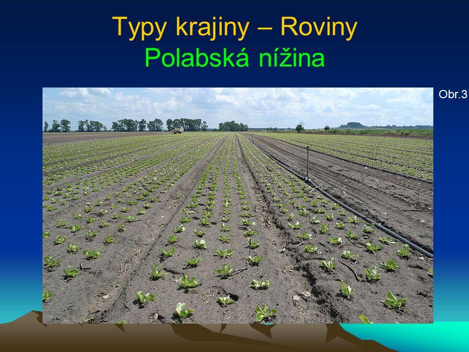 Typy krajiny – Roviny Polabská nížina