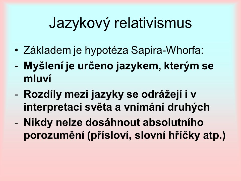 Jazykový relativismus