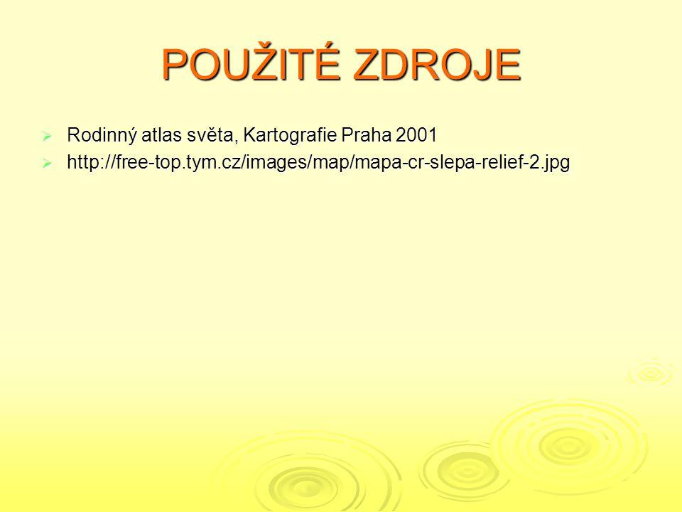 POUŽITÉ ZDROJE Rodinný atlas světa, Kartografie Praha 2001