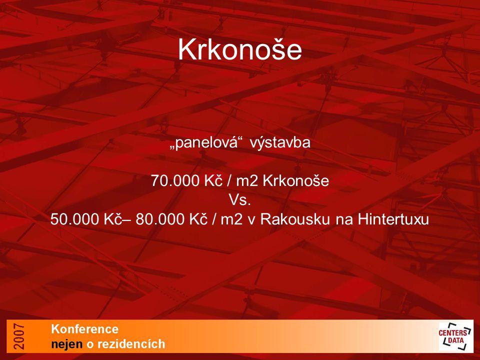 50.000 Kč– 80.000 Kč / m2 v Rakousku na Hintertuxu