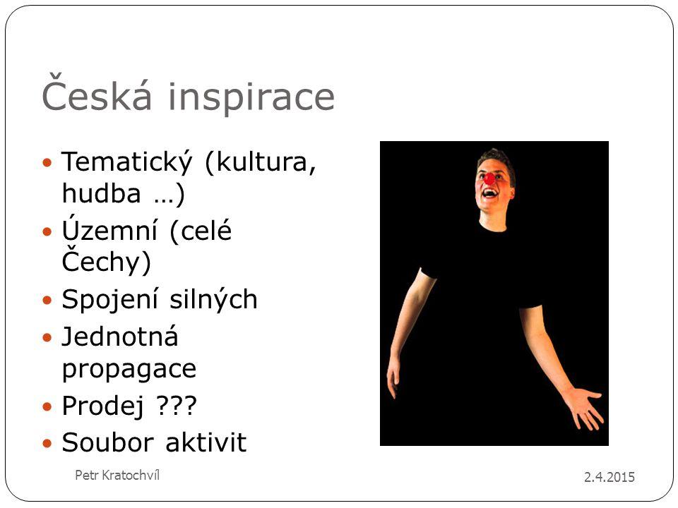 Česká inspirace Tematický (kultura, hudba …) Územní (celé Čechy)