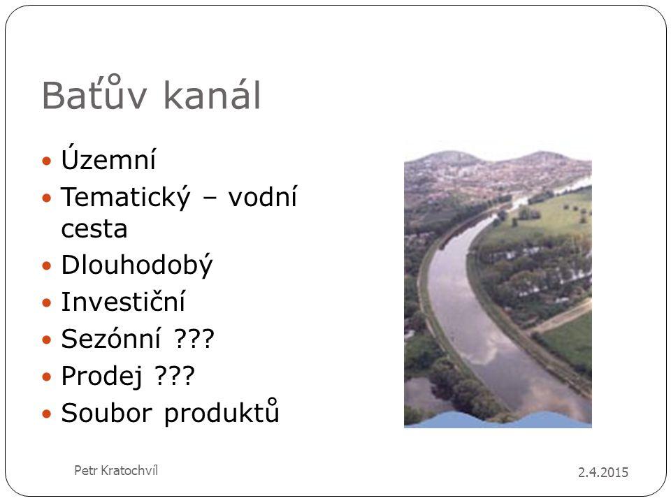 Baťův kanál Územní Tematický – vodní cesta Dlouhodobý Investiční