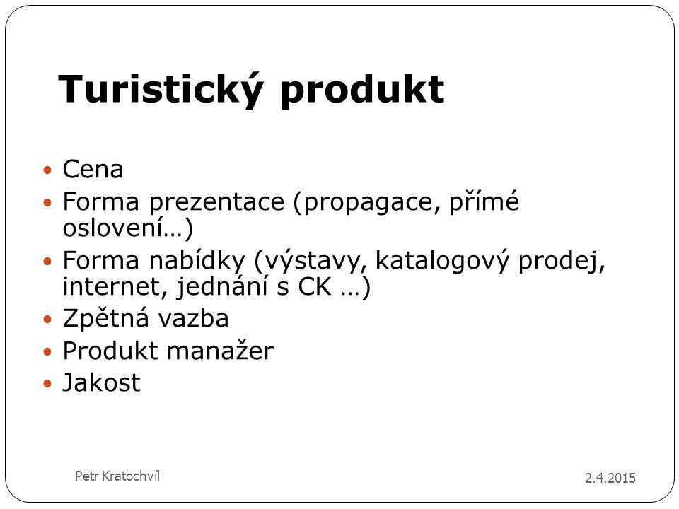 Turistický produkt Cena Forma prezentace (propagace, přímé oslovení…)