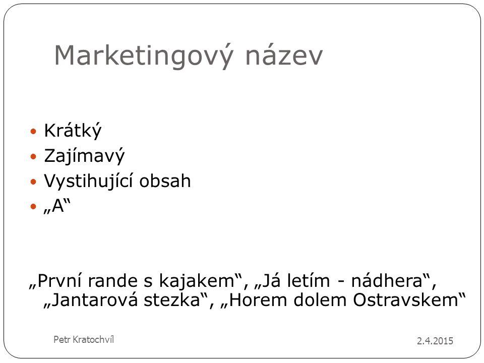 """Marketingový název Krátký Zajímavý Vystihující obsah """"A"""