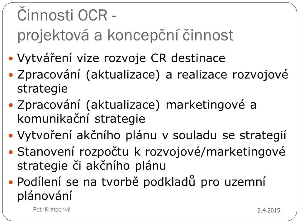Činnosti OCR - projektová a koncepční činnost