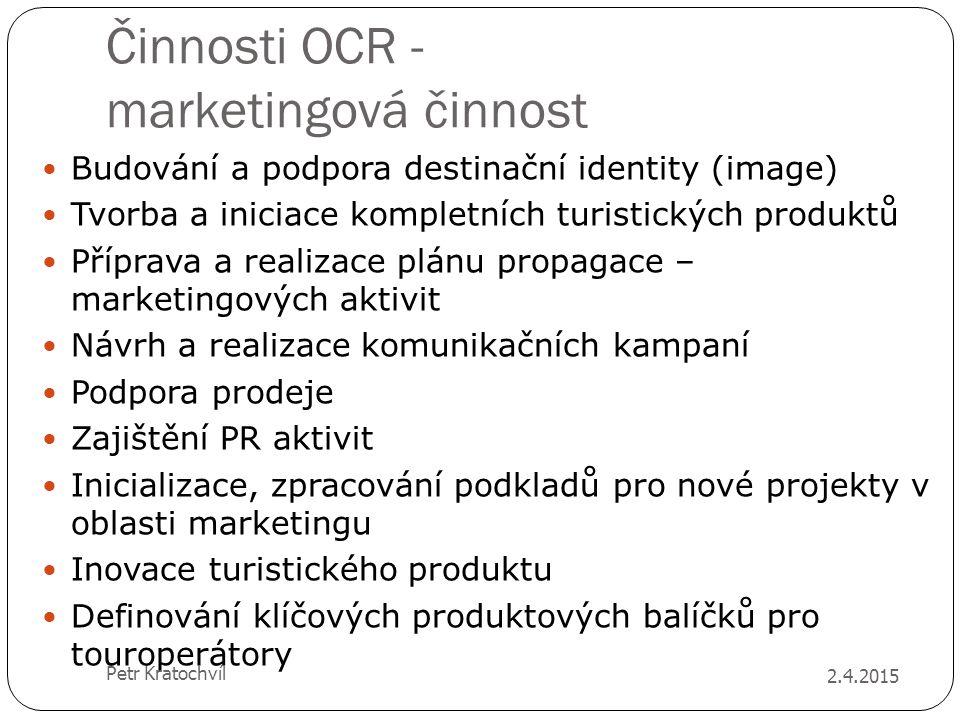 Činnosti OCR - marketingová činnost