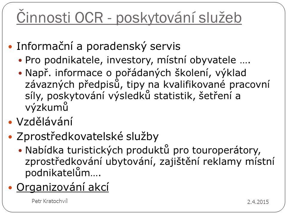 Činnosti OCR - poskytování služeb